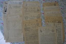 """Soldat Armée Belge Lot De Documents """"feuillets Du 12ème Régiment De Ligne 1957/1959 + ... - Documents"""