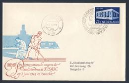 Nederland Netherlands Pays Bas 1969 Cover Brief - SPOORPHILEX 69 - 6e Int. Congres Philatelisten FISAIC, Utrecht - Treinen