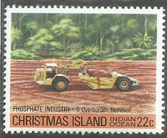 CHRISTMAS ISLAND ISOLA DI NATALE INDIAN OCEAN 1980 PHOSPHATE INDUSTRY 6 OVERBURDEN REMOVAL CENT. 22c MNH - Christmas Island