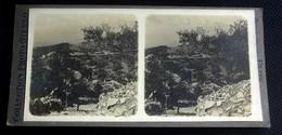 Taormina Vue Vers L Etna - Sicile Italie Italia -  Photos Stéréoscopiques Collection Photo Stéréo - Photos Stéréoscopiques