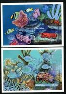 Grenada 1990 Crustaceans MS Set MNH (SG MS2173a+b) - Grenada (1974-...)