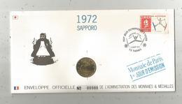 """Enveloppe Officielle """"timbre Médaille"""" Premier Jour,J.O. D'hiver ,1972 , SAPPORO ,4 Scans,frais Fr : 1.95 E - Professionnels / De Société"""