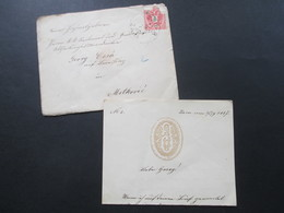 Österreich 1887 Beleg Mit Inhalt Aus Zara / Zadar Prägung / Wappen Auf Dem Briefpapaier KuK Nach Metkovic Mit Ak Stempel - 1850-1918 Keizerrijk