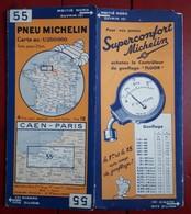 Carte Routière MICHELIN - N° 55: CAEN - PARIS - Strassenkarten