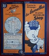 Carte Routière MICHELIN - N° 81: AVIGNON - DIGNE - Cartes Routières