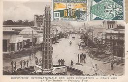PARIS 1925 - Exposition Internationale Des Arts Décoratifs , Vue Générale ( Avec Les Timbres De L'Epo ) - Exhibitions