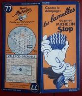 Carte Routière MICHELIN - N° 77: VALENCE - GRENOBLE - Roadmaps