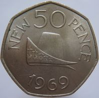 Guernsey 50 New Pence 1969 UNC Scarce - Guernsey