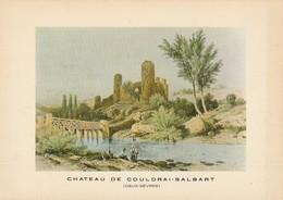 CHATEAU DE COUDRAI-SALBART. -  Copie D'une Lithographie - Sonstige Gemeinden
