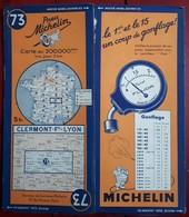 Carte Routière MICHELIN - N° 73: CLERMONT-Fd - LYON - Roadmaps