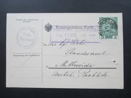Österreich 1909 PK Der Pfarrkirche Heinrichsgrün Scti. Martini Sudetenland Nach Mittweida Ak Stempel Stadtrat Mittweida - Briefe U. Dokumente
