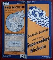 Carte Routière MICHELIN - N° 77: VALENCE - GRENOBLE - Cartes Routières