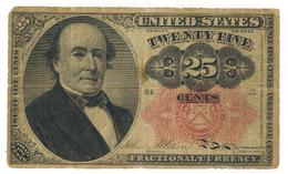 U.S.A. Fract. Currency, 25 Cents , F/VF. - Fractional Currency (1862-1875)