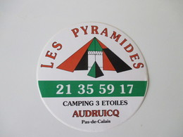 Autocollant Camping Les Pyramides Audruicq - Aufkleber
