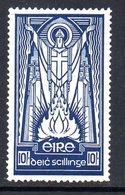 Ireland 1940 Definitives, E Wmk., 10/- Value, MNH, SG 125 - Unused Stamps