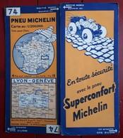 Carte Routière MICHELIN - N° 77: LYON - GENEVE - Cartes Routières