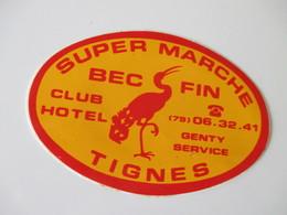 Autocollant Bec Fin Tignes - Aufkleber