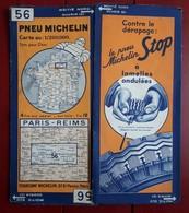 Carte Routière MICHELIN - N° 56: PARIS - REIMS - Roadmaps