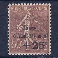 FRANCE - 267  AMORTISSEMENT SEMEUSE LIGNEE BRUN NEUF* MLH COTE 45 EUR - Neufs