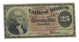 U.S.A. Fract. Currency, 25 Cents , VF+. - Fractional Currency (1862-1875)