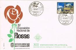 32631. Carta SAN FELIU De LLOBREGAT (Barcelona) 1971. 15 Exposicion Rosas - 1931-Aujourd'hui: II. République - ....Juan Carlos I