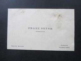 Sehr Alte Visitenkarte Um 1910 ?! Grand Hotel Director Franz Sever Fasano Garda-See / Lago Di Garda - Visitekaartjes