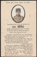 Généalogie - Faire-part De Décés - Carte Mortuaire : Soldat Louis Métral - Tombé Le 20 Juin 1915 Au Fond De Buval Arras - Décès