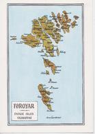 ÎLES FEROE FOROYAR FAROE ISLES MAP HJALMAR JACOBSENS BOKAHANDIL TORSHAVN - Féroé (Iles)