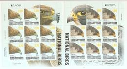 BOSNIA AND HERZEGOVINA 2019,SERBIA B.,EUROPA CEPT,NATIONAL BIRDS,EAGLES,,AQUILA CHRYSAETOS,FALCO PEREGRINUS,SHEET,MNH - Bosnia Herzegovina