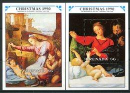 Grenada 1990 Christmas MS Set MNH (SG MS2185a+b) - Grenada (1974-...)