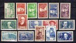 France Belle Petite Collection Neufs * 1935/1940. Bonnes Valeurs. B/TB. A Saisir! - France
