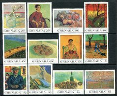 Grenada 1991 Death Centenary Of Vincent Van Gogh Set MNH (SG 2240-2251) - Grenada (1974-...)
