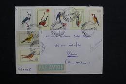 ROUMANIE - Enveloppe De Bucarest Pour La France En 1959 , Affranchissement Série Oiseaux - L 28903 - Briefe U. Dokumente