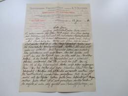 Rechnung / Firmenbrief 1916 Seifenfabrik Friedrichstadt, Vormals A.T. Düyssen Glycerin Fabrik Und Dampf-Seifen - 1900 – 1949