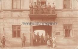 CARTE PHOTO ALLEMANDE   LOWICZ  1915   GESCHÄFTSZIMMER Der ETAPPPEN MUNITIONS KOLONEN ABTEILUNG 9a - Polonia