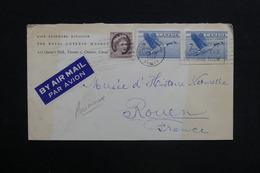 CANADA - Enveloppe De Toronto Pour La France En 1961 , Affranchissement Plaisant - L 28904 - Lettres & Documents