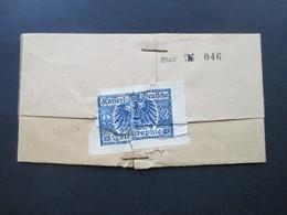 DR Um 1900 Telegramm Noch Verschlossen Mit Fiskalmarke Kaiserl. Deutsche Telegraphie Brackwede Westfalen - Briefe U. Dokumente