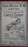 Carte Routière TARIDE - N° 6: Lorraine, Vosges - Sur Toile Pliée - Cartes Routières