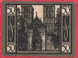 Allemagne 1 Notgeld De 50 Pfenning Stadt Münster Dans L 'état N °3665 - [ 3] 1918-1933 : República De Weimar
