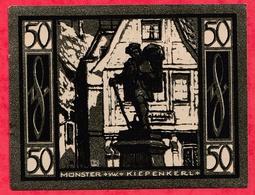 Allemagne 1 Notgeld De 50 Pfenning Stadt Münster Dans L 'état N °3667 - [ 3] 1918-1933 : República De Weimar