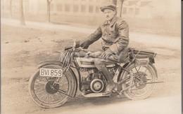 Carte Photo Ancienne Moto - Motos