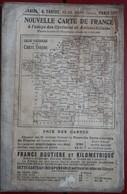 Carte Routière TARIDE - N° 8: PARIS - ORLEANAIS - Sur Toile Pliée - Cartes Routières