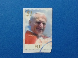 FIJI 2005 PAPA GIOVANNI PAOLO II $ 1 FRANCOBOLLO USATO STAMP USED - Fiji (1970-...)