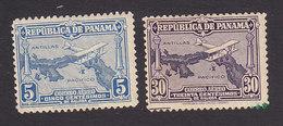 Panama, Scott #C10, C12, Mint Hinged, Plane Over Panama, Issued 1930 - Panama