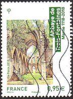 Oblitération Moderne Sur Timbre De France N° 5242 - Architecture Religieuse. Abbaye Des Trois-Fontaines (Marne) - France