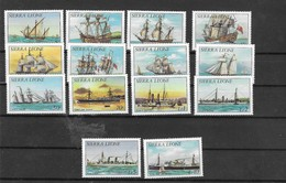 SIERRA LEONA Nº 602 AL 615 - Bateaux