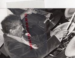 23- AUBUSSON- SAM WOODYARD BATTEUR JAZZ  -PHOTO ORIGINALE ROBERT GUINOT 1985-  MORT A PARIS EN 1988 - Persone Identificate