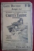 Carte Routière TARIDE - N° 9: Bretagne (Sud) - Cartes Routières