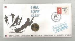 """Enveloppe Officielle """"timbre Médaille"""" Premier Jour,J.O. D'hiver ,1960 ,SQUAW VALLEY ,4 Scans,frais Fr : 1.95 E - Professionnels / De Société"""
