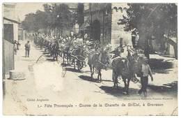 Cpa Graveson - Fête Provençale - Course De La Charrette De St-Eloi - France